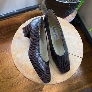 Brown Snake Skin Heels